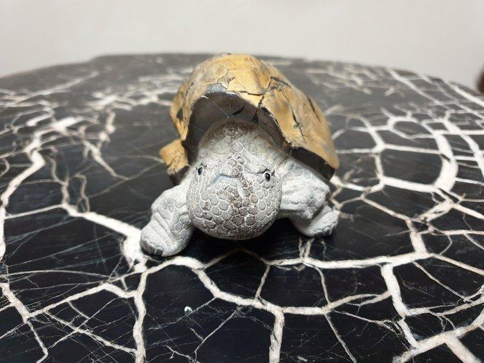 上和茶軒*台灣本土石雕龜作家 : 天淪人 老師*龜甲石,石雕烏龜(原皮)