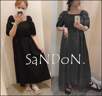 SaNDoN x『OZOC』秋季新品 法式復古方領設計典雅背後綁帶洋裝 SLY MURUA 200918