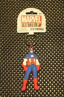 (I LOVE樂多)日本進口MARVEL 美國隊長軟膠立體鑰匙圈 送禮自用兩相宜