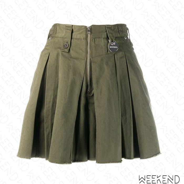 【WEEKEND】 DIESEL S-Eden 拉鍊 不修邊 牛仔 短褲 褲裙 軍綠色