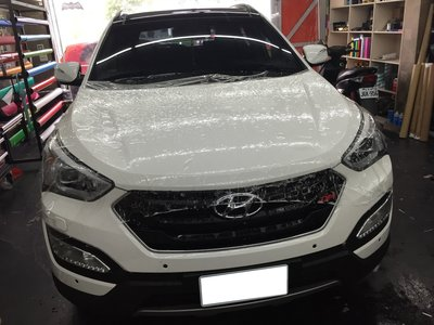 現代 Hyundai Santa Fe 車頭犀牛皮 引擎蓋貼膜 elantra veloster ix35 Tucson