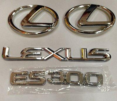 【MOMO精品】Lexus 凌志車標標誌ES300 Lexus 凌志套標 改裝標車 ES300 Lexus 全車標志 前標 後標