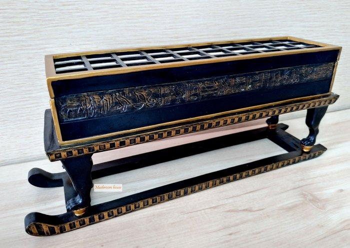 點點蘑菇屋 歐洲精品埃及遊戲棋盤造型置物盒 珠寶盒 收納盒 首飾盒 藝術擺飾 埃及古文 圖騰 現貨 免運費
