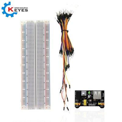 MB102 麵包板 電源模組 65條麵包線連接線 DIY 套件電子製作 W55.0323