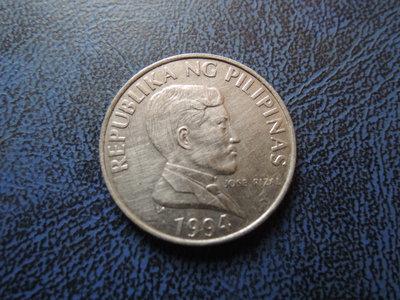 【寶家】西元1994年 菲律賓 Philippines  1piso 公牛幣 尺寸21.5mm  品項如圖 @266
