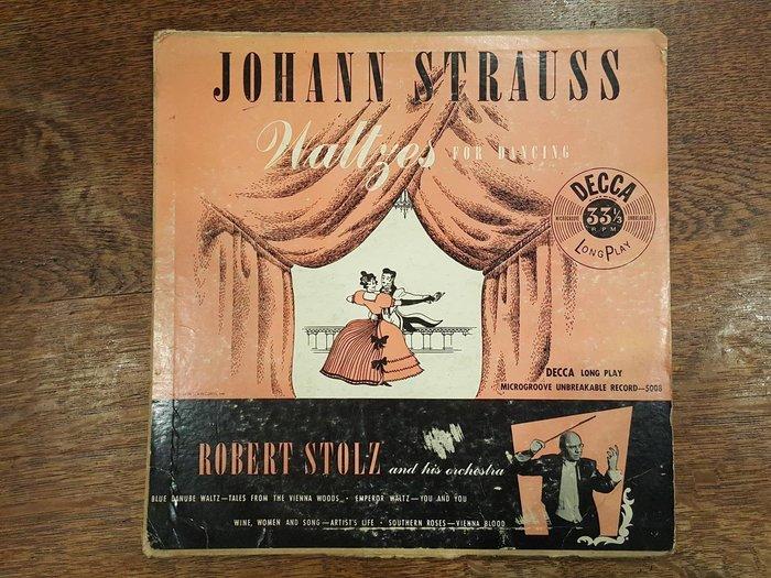 【卡卡頌 歐洲跳蚤市場/歐洲古董】 DECCA 華爾滋舞曲 約翰·史特勞斯 十吋黑膠唱片