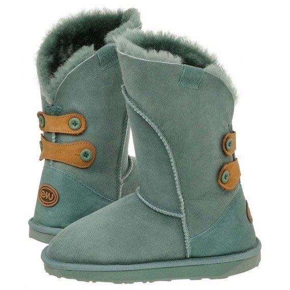 INDiCE ↗ EMU Australia Alba 頂級羊皮防水高筒雪靴 鼠尾草綠