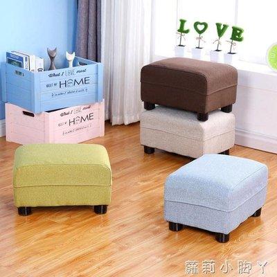 布藝小凳子換鞋凳實木成人家用矮凳客廳沙...