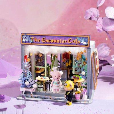 玩具研究中心 現貨代理  TD02  泰迪小屋系列  Cafe Encounter  (無泰迪人偶)