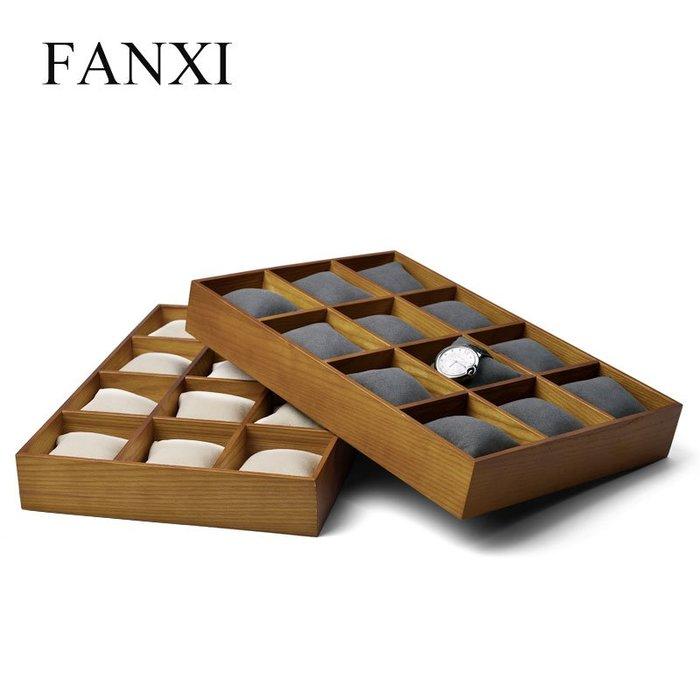 韓國Baby~凡西FANXI實木12格手錶首飾手鐲枕頭托盤珠寶首飾收納盤展示道具