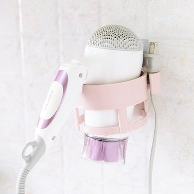 【無痕圓型架】免釘免鑽吹風機收納架 強力吸附置物架 浴室壁掛吹風機的家☆意樂舖☆