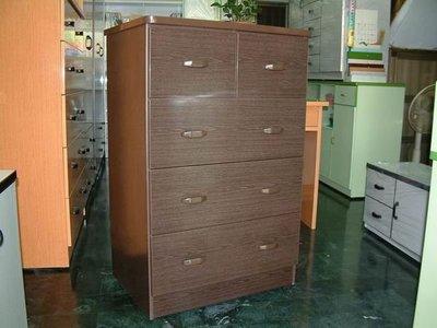 【塑鋼舒美櫥櫃設計~訂做】~不怕水.不生蛀蟲~胡桃木紋色~.塑鋼舒美四斗櫃