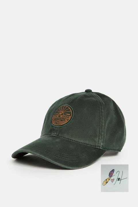 當日寄出[現貨] 英國代購 英國Jack Wills Alston 帆布棒球帽 墨綠色