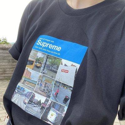 正確版本Supreme 20FW Verify Tee 街景驗證照片男女同款短袖T恤