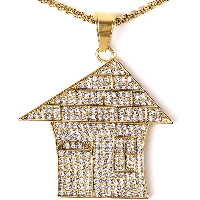 Lissom韓國代購~gold plated ice house necklace