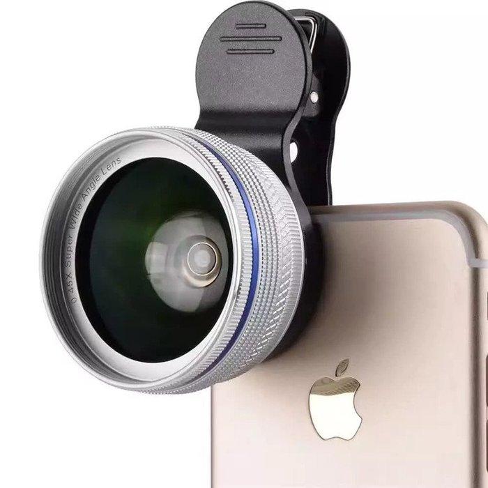 手機鏡頭機通用廣角鏡頭不變形0.45X廣角微距二合一無畸形