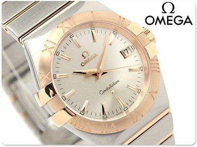 OMEGA 歐米茄 手錶 CONSTELLATION 星座 35mm 18k紅金 藍寶石 瑞士 123.20.35.60.02.001