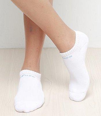 【H.Y SPORT】Apure除臭襪 素色船型運動襪 白