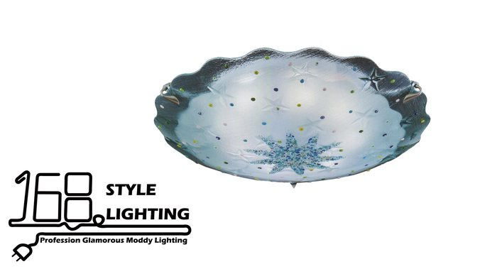 【168 Lighting】冰雪風情《居家吸頂燈》(兩款)八燈款GI 71394-3
