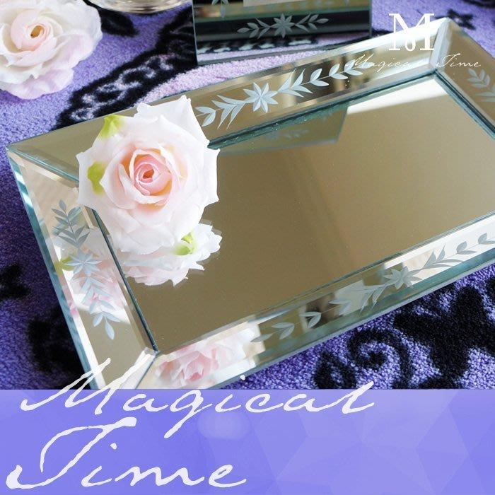 【∮魔法時光∮】CLARINS克蘭詩 威尼斯玻璃鏡面托盤/擺盤/糖果盤(入店招待)