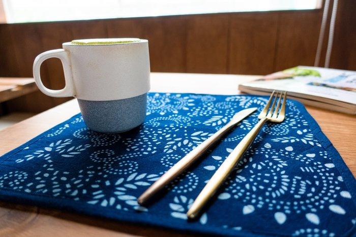!!((中國藍Anewei))藍染大餐墊/方墊/棉墊/壺墊-F28*28-雙面可用 可搭配杯墊