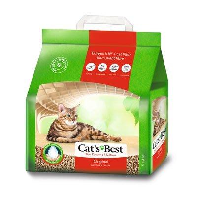 凱優 CAT'S BEST 除臭抗菌天然凝結貓砂木屑砂松木砂20L-約8.6KG紅標