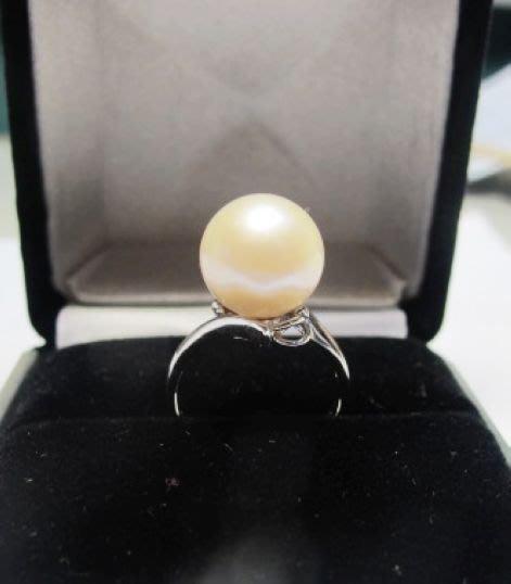 [一品軒促銷品]正圓天然完美無暇南洋珍珠11.3MM3A+級造型戒指