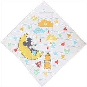 日本  棉紗材質嬰幼兒 可愛身高尺浴巾/包巾