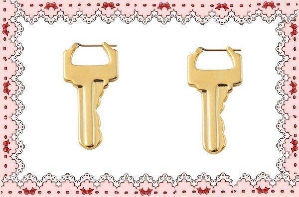 ⚡肯尼芭比⚡【多款可選】【K金材質】銀色鑰匙耳環☆金色鎖頭耳環☆抗過敏材質【日本製㊣實品拍攝】可混搭