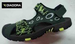 北台灣大聯盟 義大利國寶鞋DIADORA迪亞多納 男款3大機能護趾排水戶外運動涼鞋 3165-綠 超低直購價498元