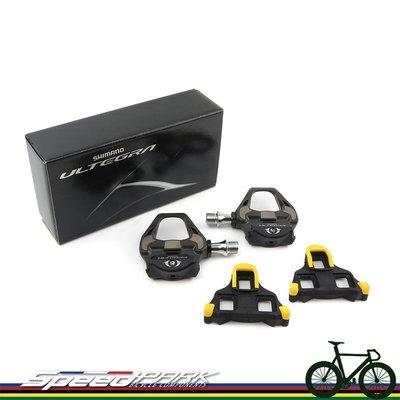 【速度公園】Shimano Ultegra PD-8000 SPD-SL+4mm 加長軸卡踏板 R8000 盒裝 附扣片