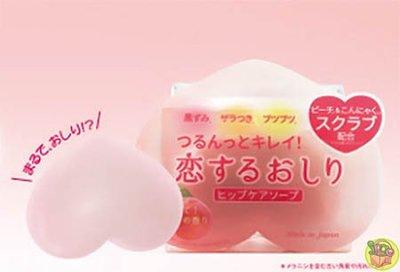 【JPGO日本購】日本製 Pelican 蜜桃臀部角質調理皂 去角質磨砂皂 80g #272