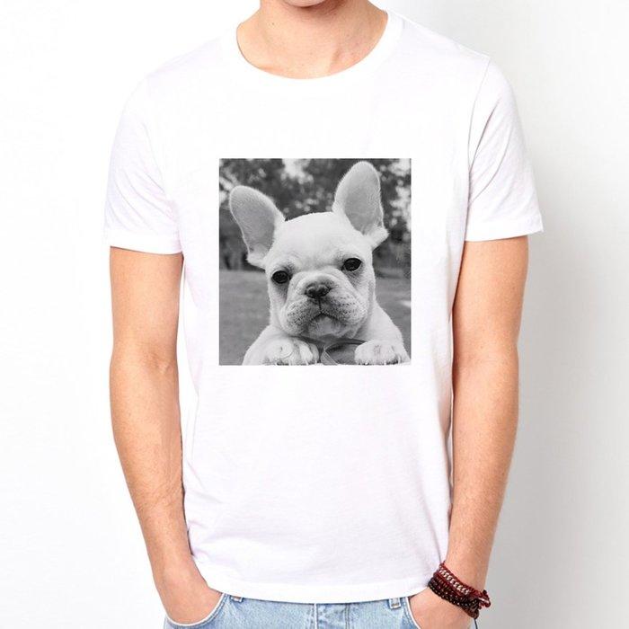 French Bulldog Face短袖T恤 2色 法鬥巴哥動物狗貓PUG 現貨 亞版