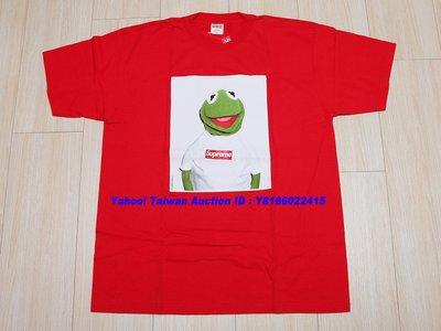 絕版 全新 2008 SS SUPREME KERMIT THE FROG TEE RED 紅色 青蛙 芝麻街 XL