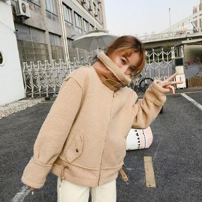 短外套 小香風秋冬女裝韓版學生羊羔毛寬鬆外套流行百搭機車服潮
