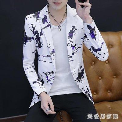 春裝新款西裝男韓版潮流青年小西裝男裝修身帥氣西服春秋男士外套 QG11191
