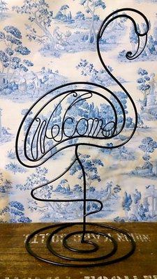 紅鶴Welcome鐵飾立牌;POP 立體招牌 廣告 店面 鐵器 設計 歡迎 迎賓 飯店 旅館 手工 家飾 禮品