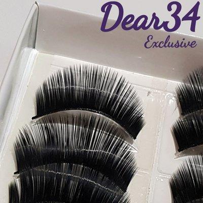 《Dear34》硬梗785濃密超長歐美誇張cosplay  假睫毛一盒(十對)價