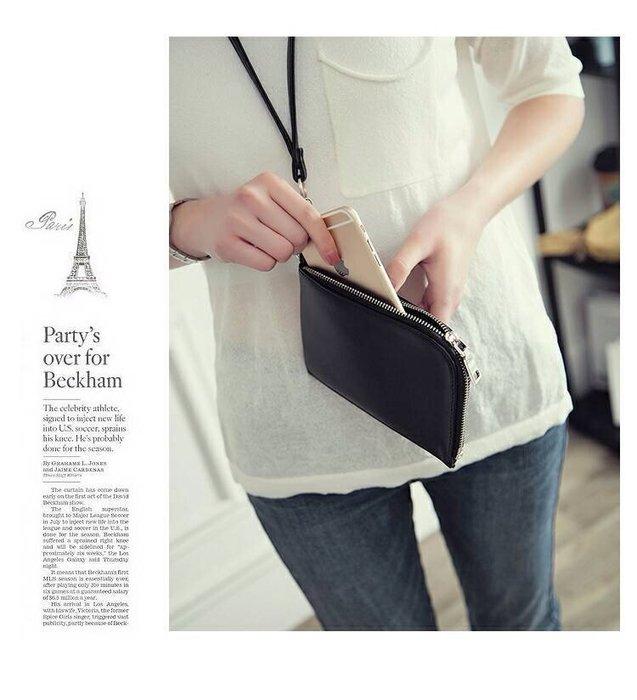頸掛包 掛脖包 頸包 零錢包 手機包 手拿包 小包包 化妝包 韓國包--熊水暢貨--~全館免運
