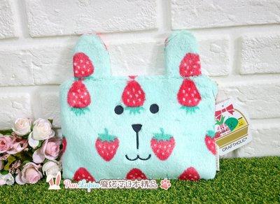 (現貨在台)日本正品 CRAFTHOLIC 宇宙人  隨身包 平面包 手拿包 包中包 絨毛包 化妝包 萬用包 草莓 兔兔