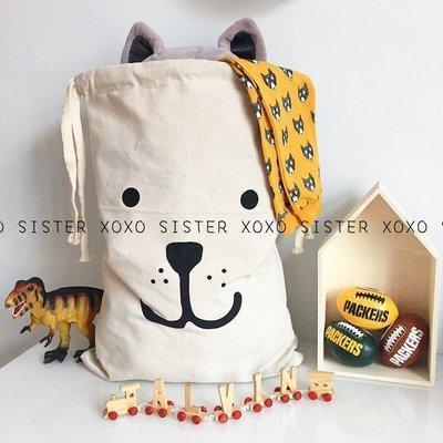 Sis 歐美 兒童房時尚 玩具收納 超大帆布造型束口收納袋 兒童房 嬰兒房 家飾品