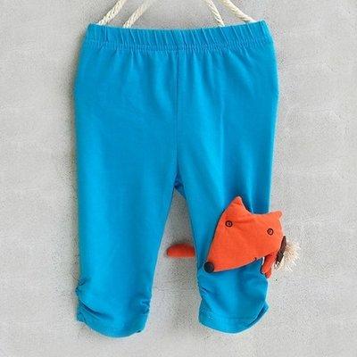 【班比納精品童裝】狐狸內搭褲-藍【S0006216】