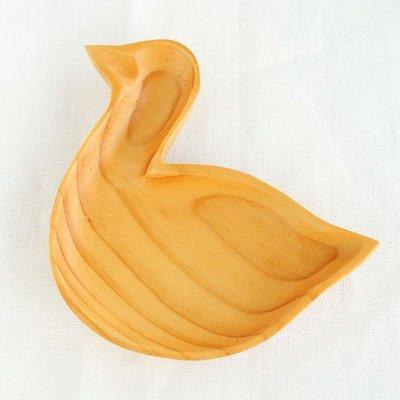 《散步生活雜貨-鄉村散步》日本進口 SPICE - Wood craft tray 原木手工雕製 造型收納皿-天鵝
