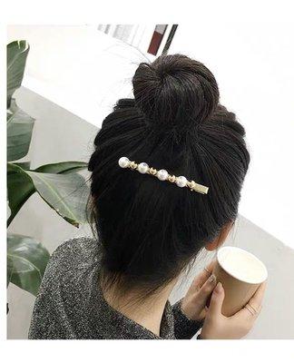 韓國金屬球珍珠髮夾 鴨咀夾 鴨嘴夾 抓夾髮飾