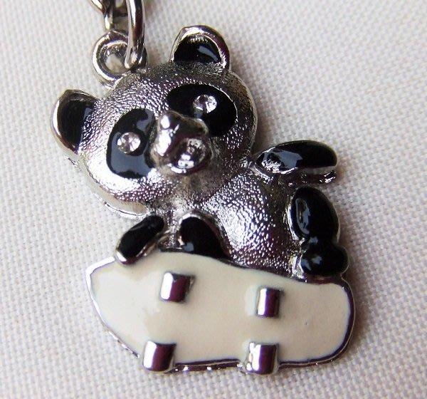 ☆創意小物店☆ 熊貓A-5 鑰匙扣/創意可愛金屬鑰匙圈 時尚造型個性飾品(扁圈或問號鉤  二選一)