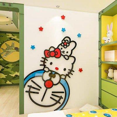 3D立體創意門上裝飾牆 壓克力壁貼 兒童房牆面臥室門衣櫃門邊自黏 卡通壓克力壁貼