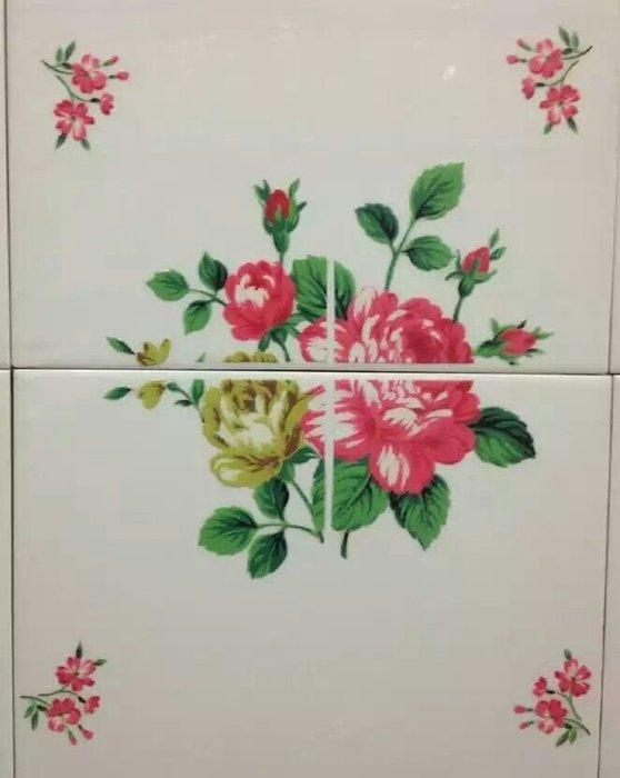 粉紅玫瑰精品屋~韓國進口家居裝飾厨房 防水浴室可移除牆貼瓷磚~