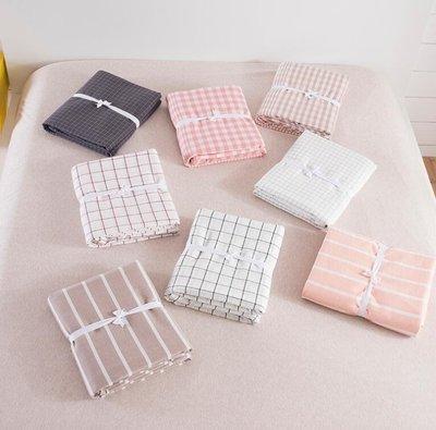 床包組 純棉水洗棉床笠單件 全棉床罩純色席夢思床墊保護套1.5m1.8米床單—莎芭