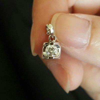 18K 0.35克拉 火光淨度皆美 鑽石墜子(不含鍊)