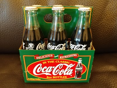 Coca Cola Glass Bottles Paper Box Set 6x237ml可口可樂玻璃瓶連紙盒 237毫升 6瓶